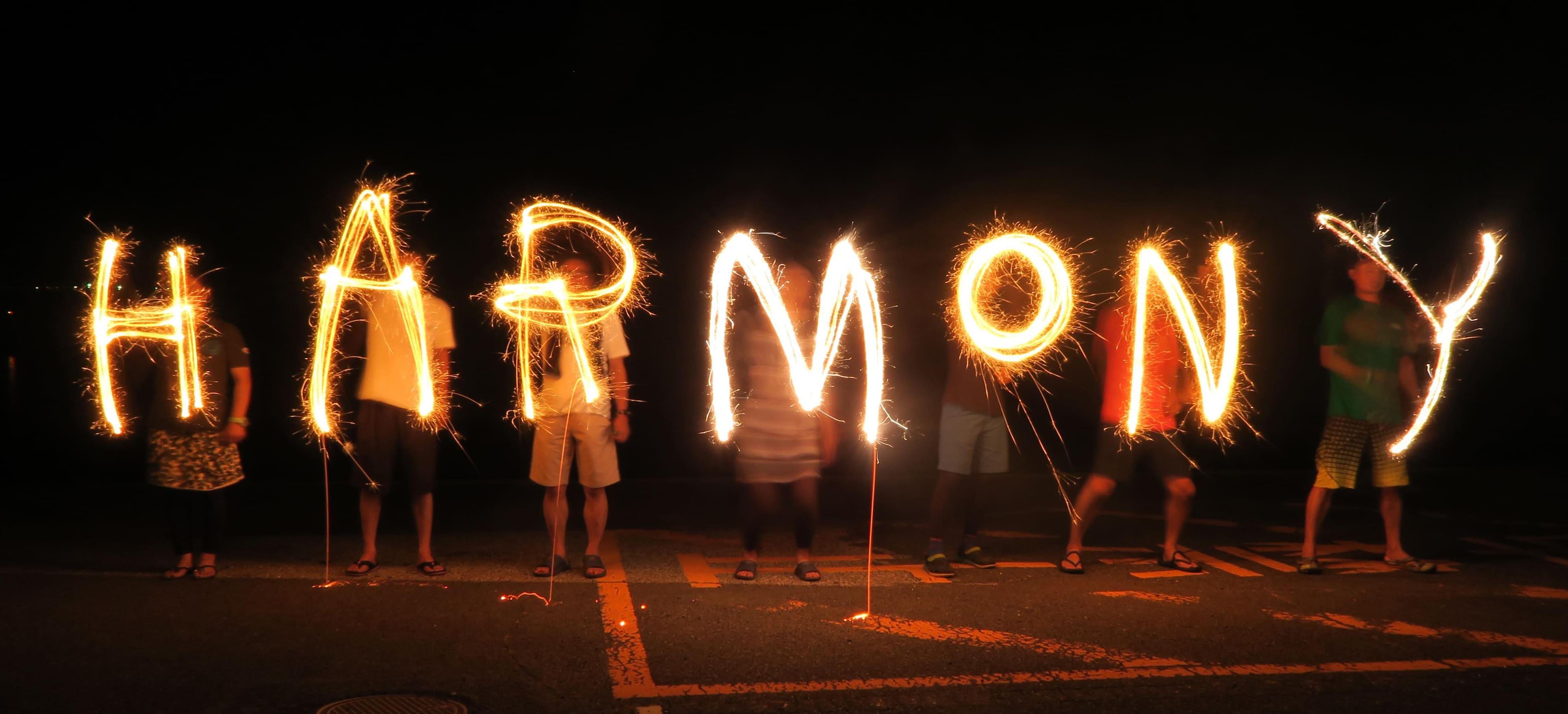 HARMONY光の文字