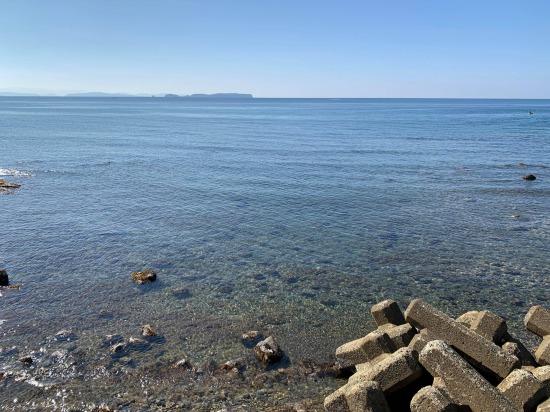 穏やかな海へ まだまだ暖かい